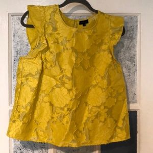 Yellow floral blouse